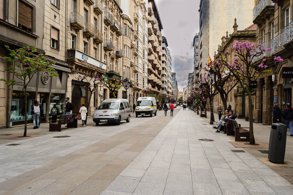 Calle del paseo ourense